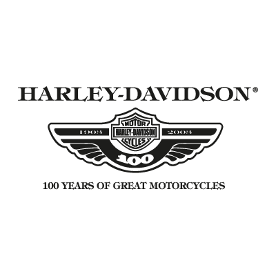 Harley Davidson 100 years logo vector