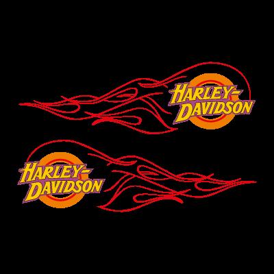 Harley-Davidson flame logo vector