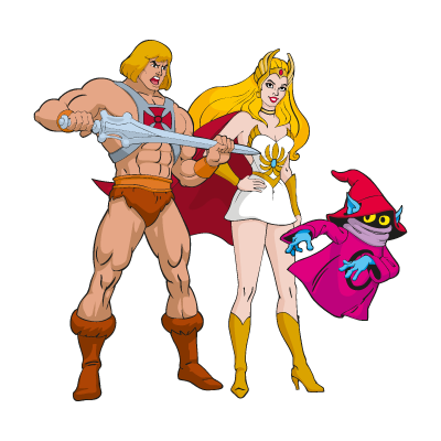 He-Man & She-Ra logo vector