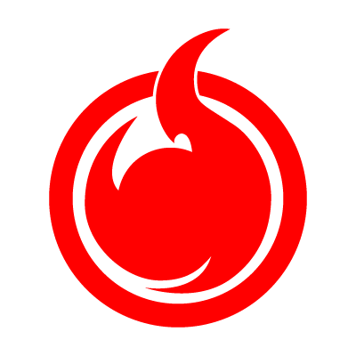 Hell Girl fire symbol logo vector