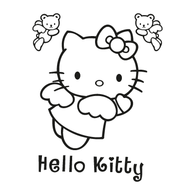 Hello Kitty black logo vector