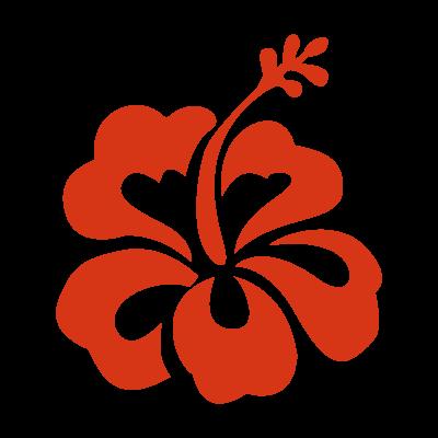 Hibiscus flower vector logo