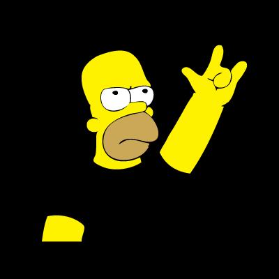Homero metalero logo vector