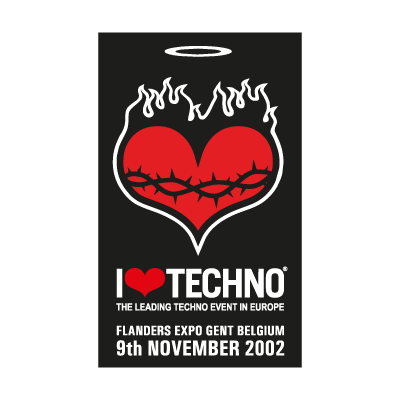 I Love Techno 2002 vector logo