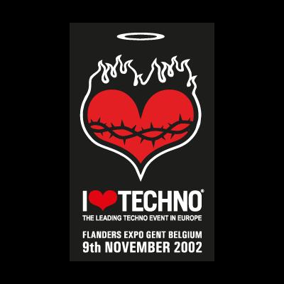I Love Techno 2002 logo vector