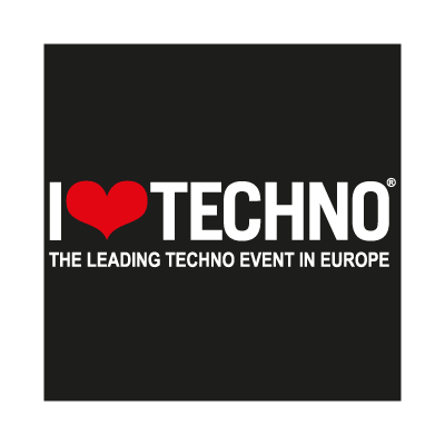 I Love Techno logo vector