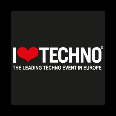 I Love Techno vector logo