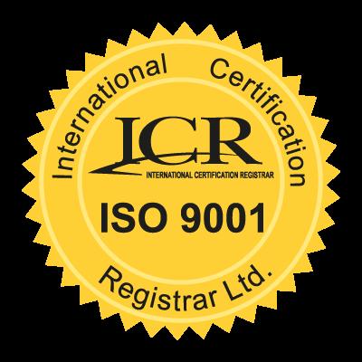 ICR ISO9001 logo vector