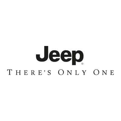 Jeep There's Only Once logo vector