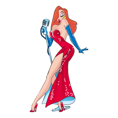 Jessica Rabbit logo vector
