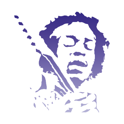 Jimi hendrix logo vector