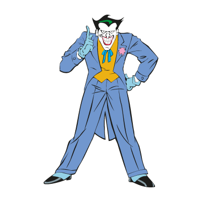 Joker from Batman logo vector