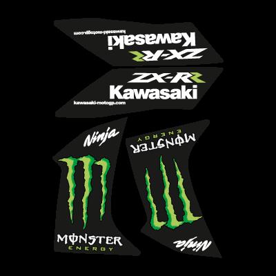 Kawasaki Ninja Monster ZX-RR logo vector