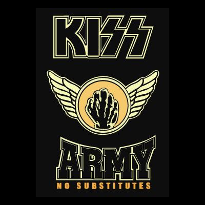 KISS Army Fist vector logo