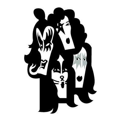 KISS band vector logo