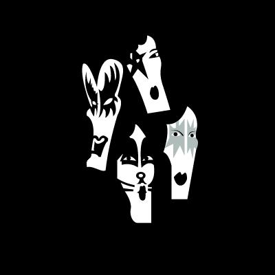 KISS band vector logo