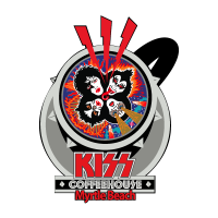 KISS Rock N' Roll Over Coffee cup vector logo