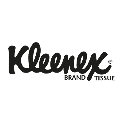 Kleenex black logo vector