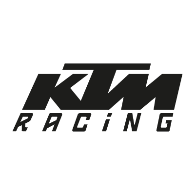 KTM Racing black vector logo