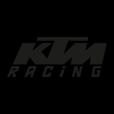 KTM Racing black vector logo