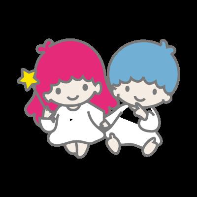 Little Twin Stars logo vector