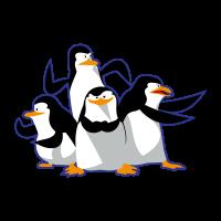 Madagascar pinguinos penguins vector
