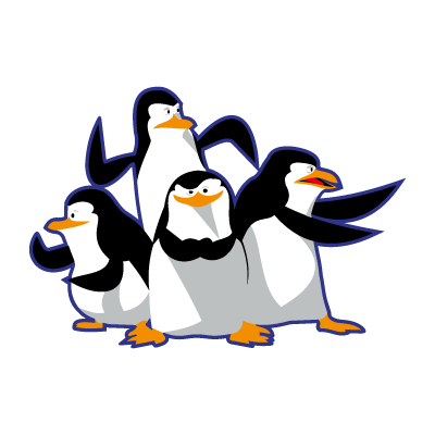 Madagascar pinguinos penguins vector free download