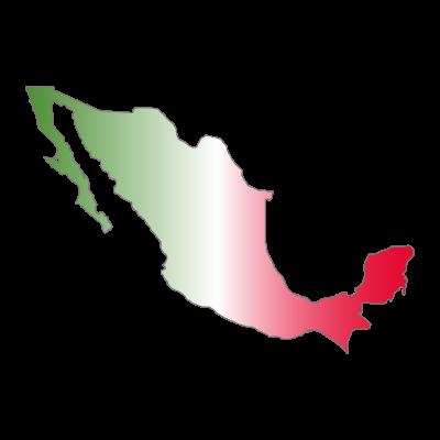 Mapa de Mexico logo vector