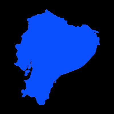 Mapa del ecuador logo vector