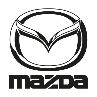 Mazda black logo vector
