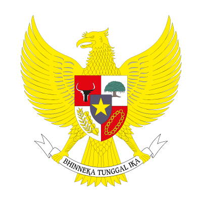 National emblem of Indonesia logo vector