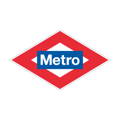 Metro Madrid vector logo free download