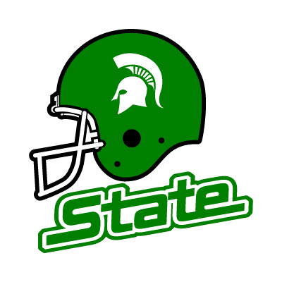 Michigan State Spartans Helmet logo vector