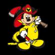 Mickey Mouse Fireman logo vector