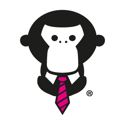 Monkey Town Gorilla vector logo