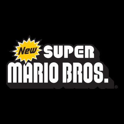 New Super Mario Bros Nintendo logo vector