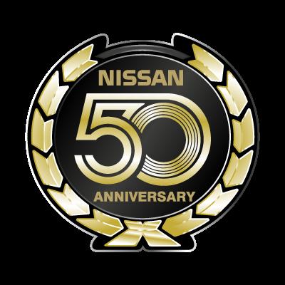 Nissan 50 Anniversary logo vector