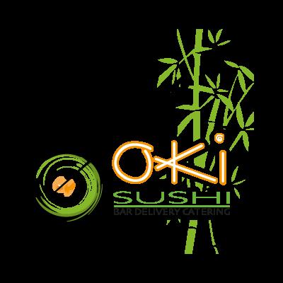 Oki Sushi logo vector