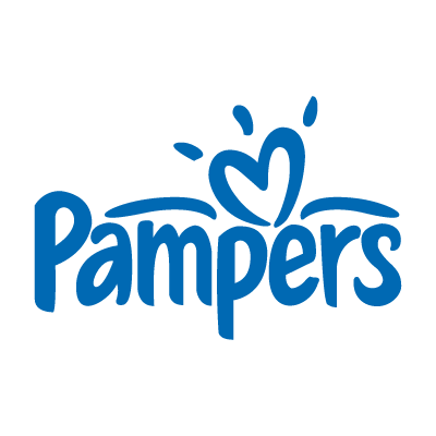 Pampers baby logo vector