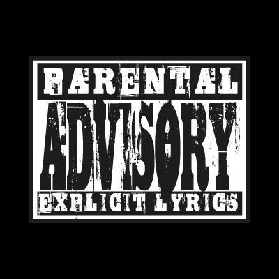 Parental Advisory lyrics logo vector