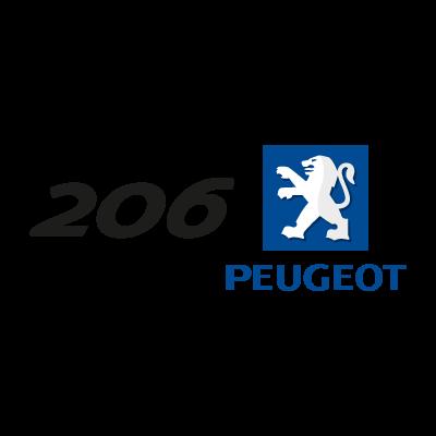 Peugeot 206 (.EPS) logo vector