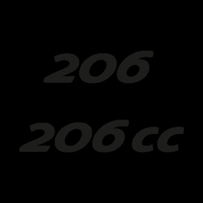 Peugeot 206 logo vector