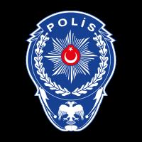 Polis Yildizi Beyaz Defneli vector logo