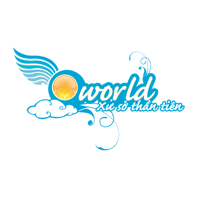 Q-world logo vector