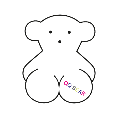 Qq bear logo vector