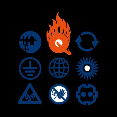 Q-Zar logo vector