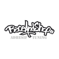 Race and shop vector logo