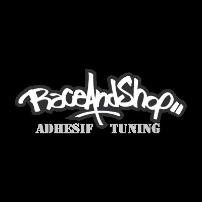 Race and shop logo vector