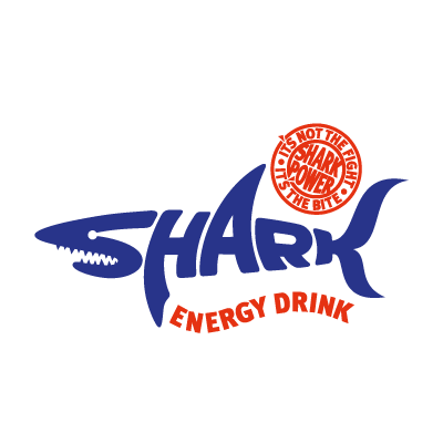 Shark Energy Drink vector logo