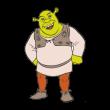 Shrek character logo vector